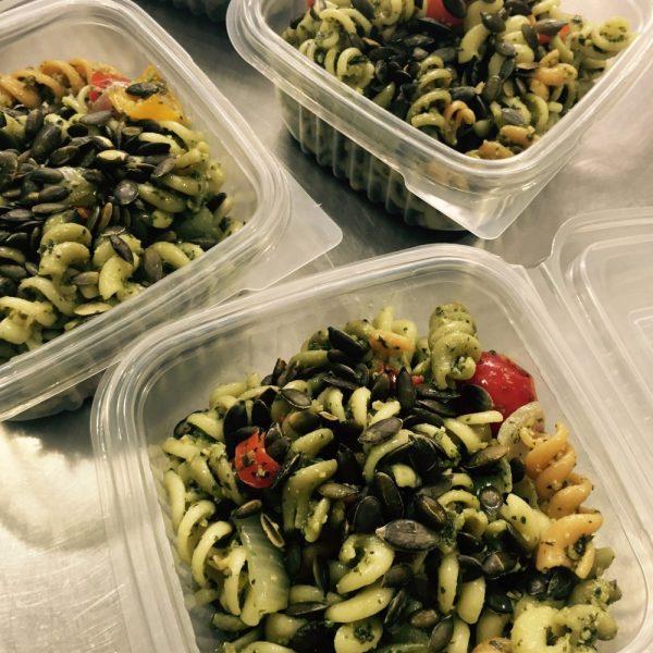 Vegan Pumpkin Seed Pesto Pasta