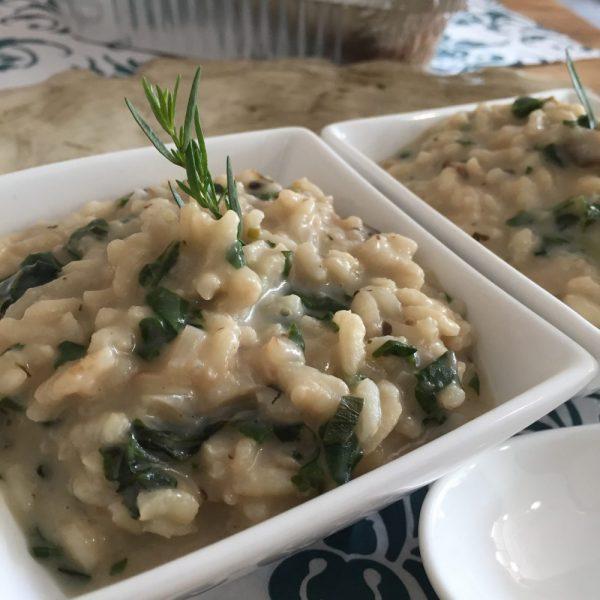 Mushroom & Spinach Risotto Bake